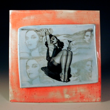 Martini Pinup Girl Tile by Studio Copan